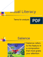 visual literacy terms