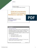 Analisi del comportamento dinamico di un processo e Modellazione matematica – Parte 2