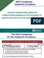The Who Treatment Protocol for Malaria
