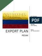 Final Report Export Plan