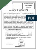 Compito di sintesi n° 2 (15-16)