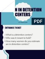 social activism- women in detention centers pptx