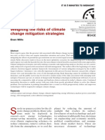 Weighing the Risks of Climate Change Mitigation Strategies