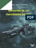 Memorias de Un Merodeador Estelar - Carlos Saiz Cidoncha