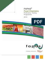 Fapas Food Chemistry Programme 2016