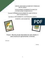 Marcile private dezvoltate de catre retailer in cadrul sectorului agroalimentar romanesc.doc
