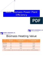 Basic Biomass Power Plant Efficiency