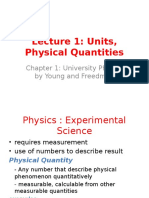 Lecture 1 Units and Physical Quantities