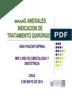 Masas Anexiales Indicacion de tratamiento quirugico