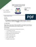 Taarifa Ya Utendaji Kazi Nusu Mwezi-April