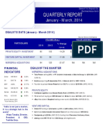 Quarterly Report Jan March 2014 by Dewan P.N. Chopra & Co.