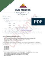 GS paper I