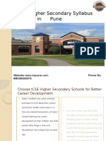 ICSE Higher Secondary Schools in Pune