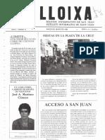 LLOIXA. Número 11, mayo/maig 1982. Butlletí informatiu de Sant Joan. Boletín informativo de Sant Joan. Autor
