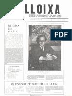 LLOIXA. Número 05, noviembre/novembre 1981. Butlletí informatiu de Sant Joan. Boletín informativo de Sant Joan. Autor