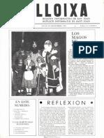 LLOIXA. Número 06, diciembre/desembre 1981. Butlletí informatiu de Sant Joan. Boletín informativo de Sant Joan. Autor