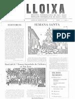 LLOIXA. Número 09, marzo/març 1982. Butlletí informatiu de Sant Joan. Boletín informativo de Sant Joan. Autor