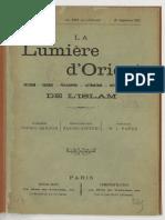 Lumiere d'Orient VOL 01 N°01 Sept 1892