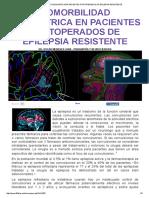 Comorbilidad Psiquiatrica en Pacientes Postoperados de Epilepsia Resistente