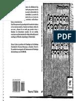 Cuche La Nocion de Cultura en Las Ciencias Sociales