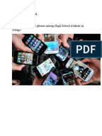 Review of related literature about cell phone