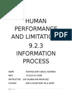 Human Performance and Limitations