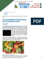 Cara Detoksifikasi Tubuh...an Sayur - Proses Detox