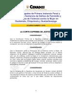 2010-A001 Crea Juzgados de Violencia Contra La Mujer en Chiquimula, Quetzaltenango y Guatemala