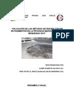 Tesis de Rehabilitacion Enpavimentos en La Ciudad de Moquegua-2014 Tesis II Avance