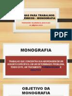 Normas Para Trabalhos Acadêmicos - Monografia