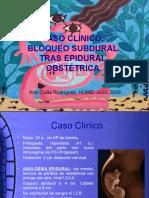 Bloqueo Subdural