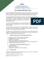 Resumen Nuevo Código Procesal Civil Boliviano