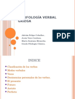 Morfología Verbal Griega
