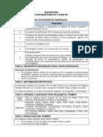 Inscripcion de Contador Publico y Auditor