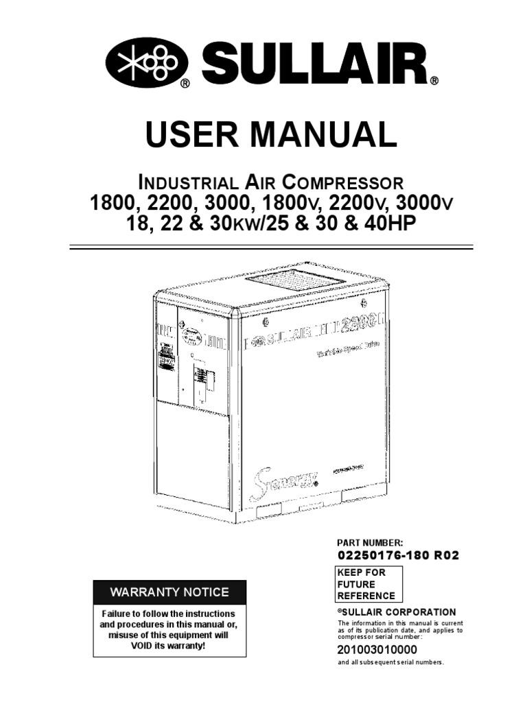 203739705 industrial air compressor sullair gas compressor valve rh es scribd com Sullair Parts List Sullair 185 Parts Diagram
