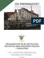Organización Ante Riesgos y Desastres