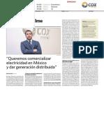 Entrevista Al Presidente de Cox Energy, Enrique Riquelme, En El Economista