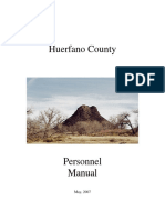 Huerfano County Personnel Manual 2016