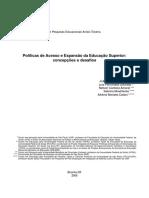 Políticas de Acesso Da Educação Superior - Concepções e Desafios