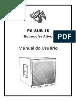 Manual PS-SUB 15