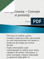 Categorizarea - Concept Si Prototip