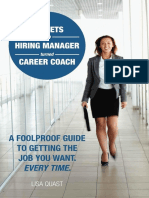 Secrets Of A Hiring Manager Turned Career Coach - A Foolproof Guide To Getting The Job You Want. Every Time.epub
