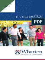 Wharton MBA Trifold