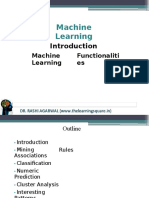 Machine learning functionalities