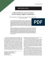 Evaluación TRI de La Escala IE de Rotter