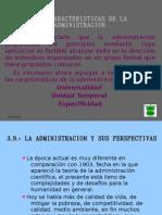Caracteristica de La Admin is Trac Ion