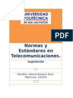 Normas y Estándares en Telecomunicaciones