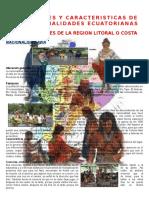 Caracteristicas y Costumbres de Las Nacionalidades Ecuatorianas