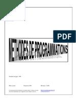 Cours Methodes de Programmations