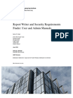 Report Writer and Security Requirements Finder